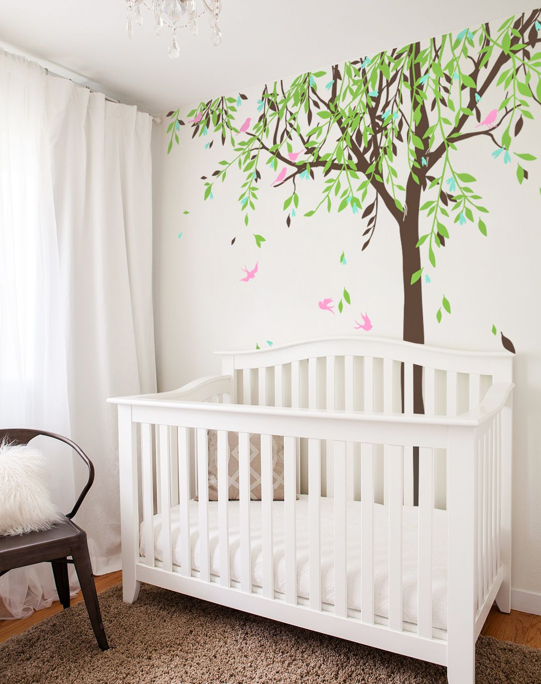 Large Baby Nursery Willow Tree Vinyl