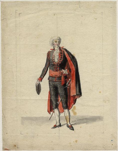 Man Wearing The Black And Red Court Costume Man I Svarta Och Roda Hovdrakten By Johan Abraham Aleander 1766 1853 Circa 1800 Kobe 1700 Talet Drakter