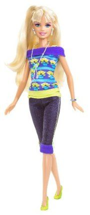 Barbie Toy Story 3 Barbie Loves The Aliens Doll by Mattel. $17.71. Celebrate the Barbie fashion heritage with featured Toy Story 3 doll. Inspired by Disney / Pixar's new film Toy Story 3. Sure to be a collector favorite. Relive the movie moments with feature fashion play dolls. Includes themed Barbie doll, brush, and backpack clip with mini-figurine of character. From the Manufacturer                Barbie Toy Story 3 Barbie Loves The Aliens Doll: Inspired by Disney ...