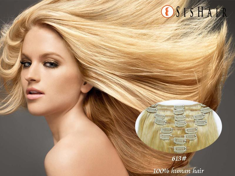 Straight Clip In Hair Extensions 613 Bleached Blonde Hair Dos