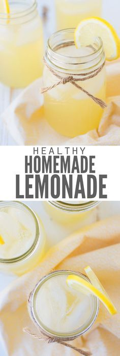 Easy Healthy Homemade Lemonade #lemonadepunch