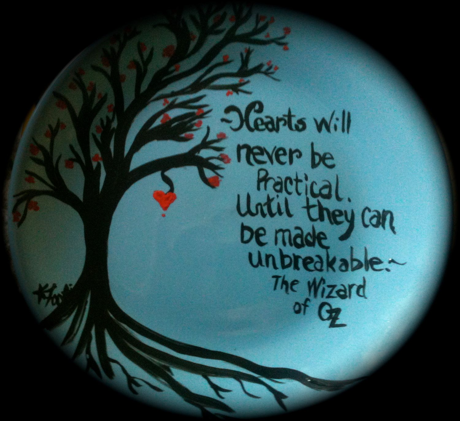 Wizard Of Oz Love Quotes Wizard Of Oz Quote Decorative Plate  Art  Our Burrow Design On