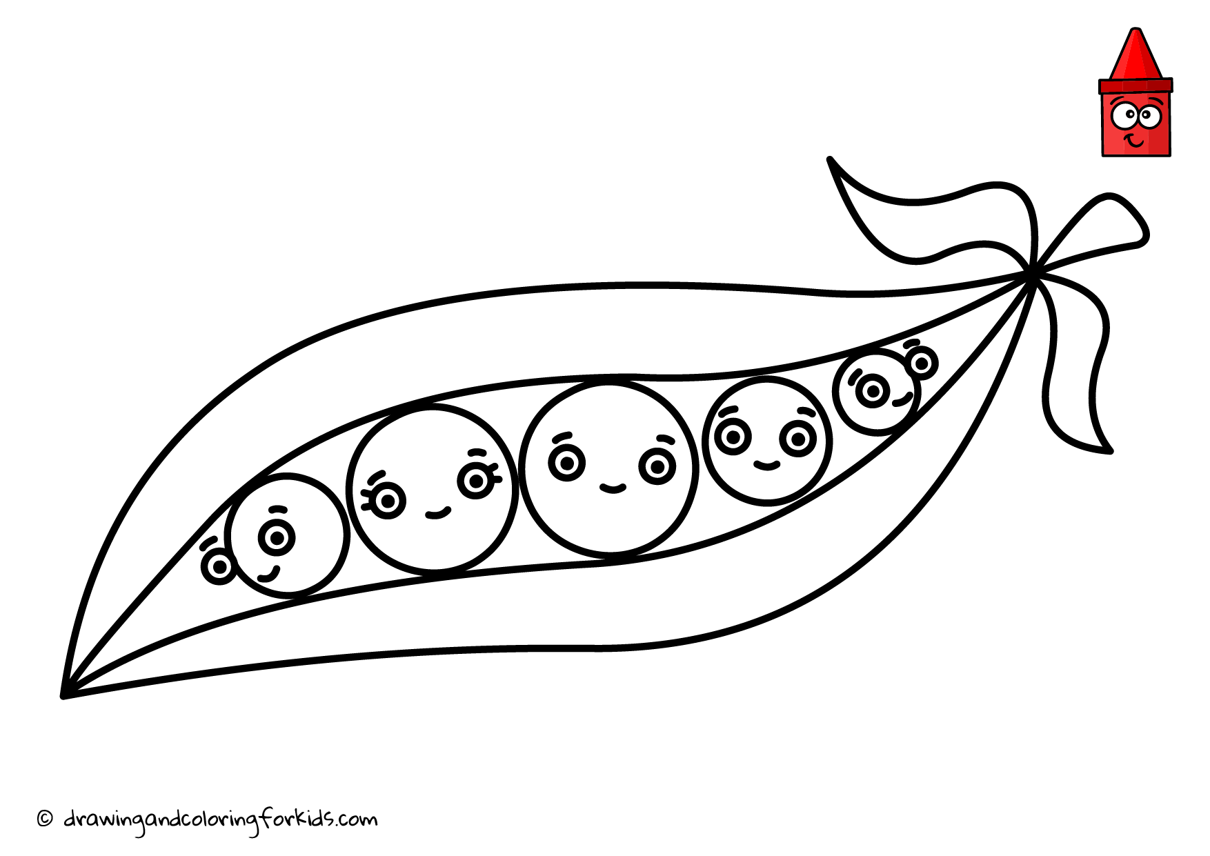 Drawing Vegetables Coloring Page Vegetables How To Draw Peas