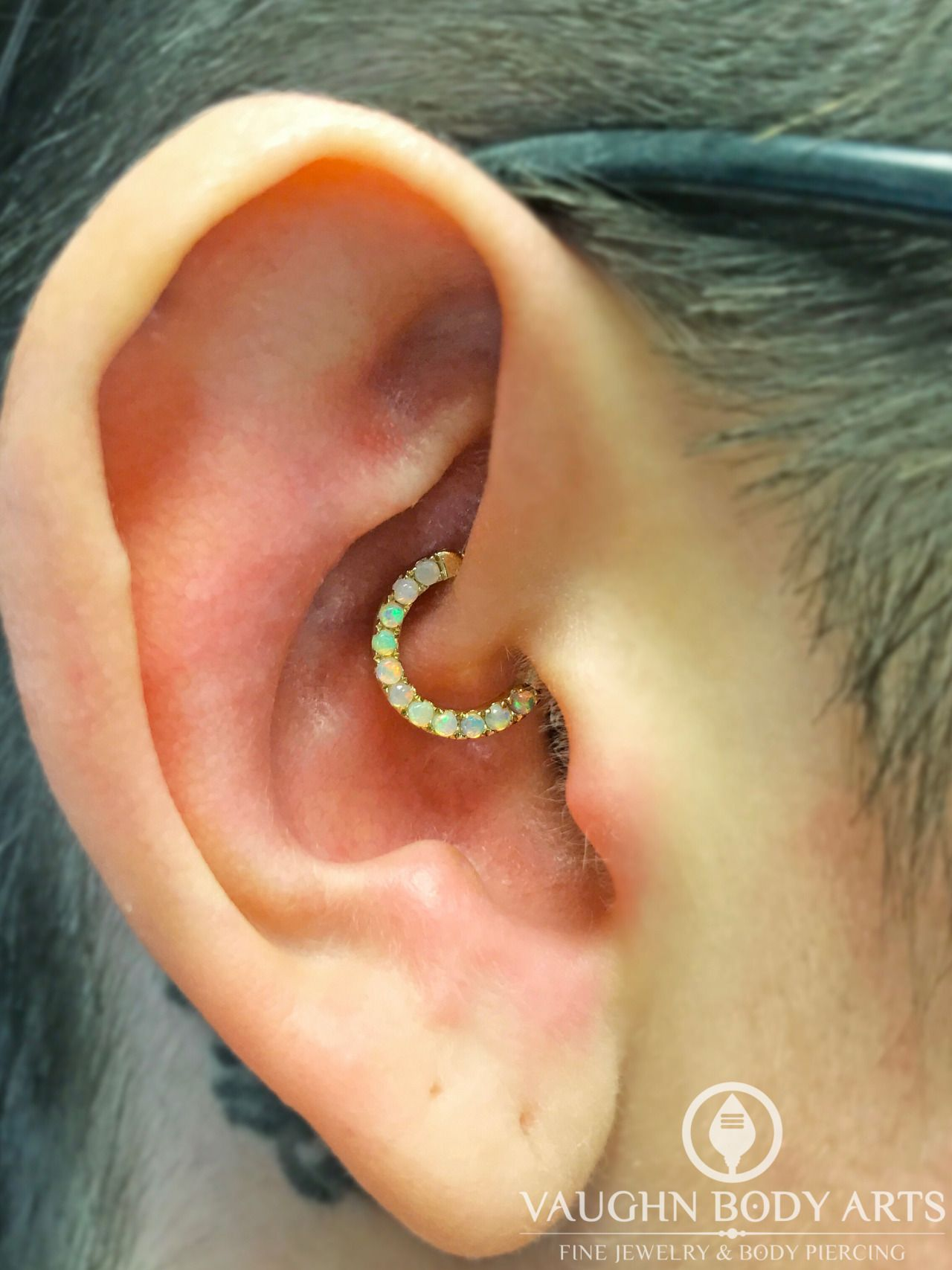 Healed up nose piercing  Sydney stopped by when we opened in search of new fancy jewelry for