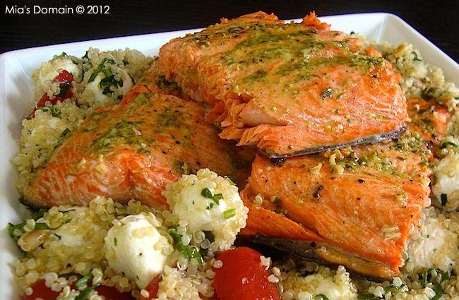 Mia's Domain | Real Food: Lemon Pesto Salmon