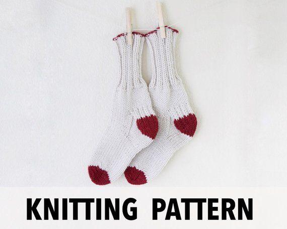 Knitting Pattern Socks Knit Pattern Boot Socks Easy Knit