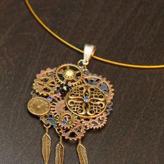 Collier tour de cou avec pendentif steampunk vintage
