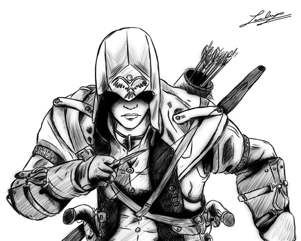 assassins new coloring page  drawing tutorial drawings