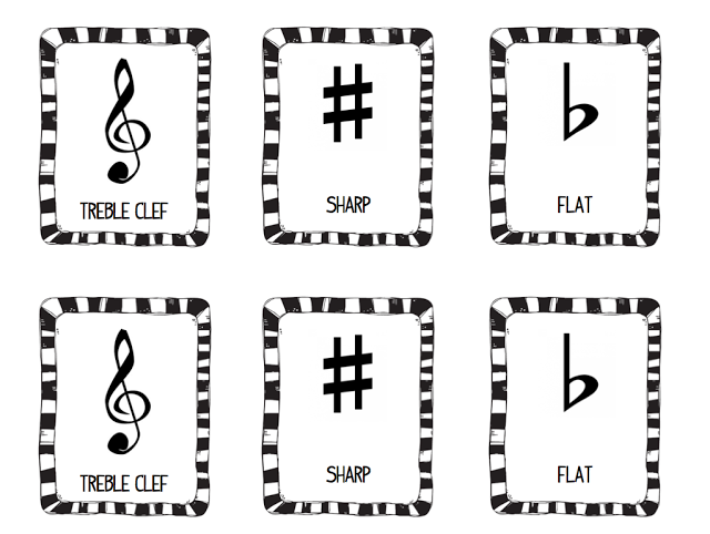 Stay Tuned!: Music Symbol Memory Game- FREEBIE! Music