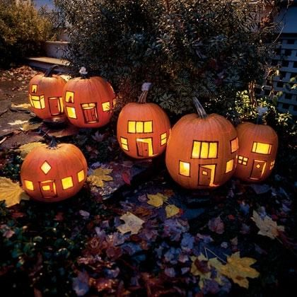 Little pumpkin houses