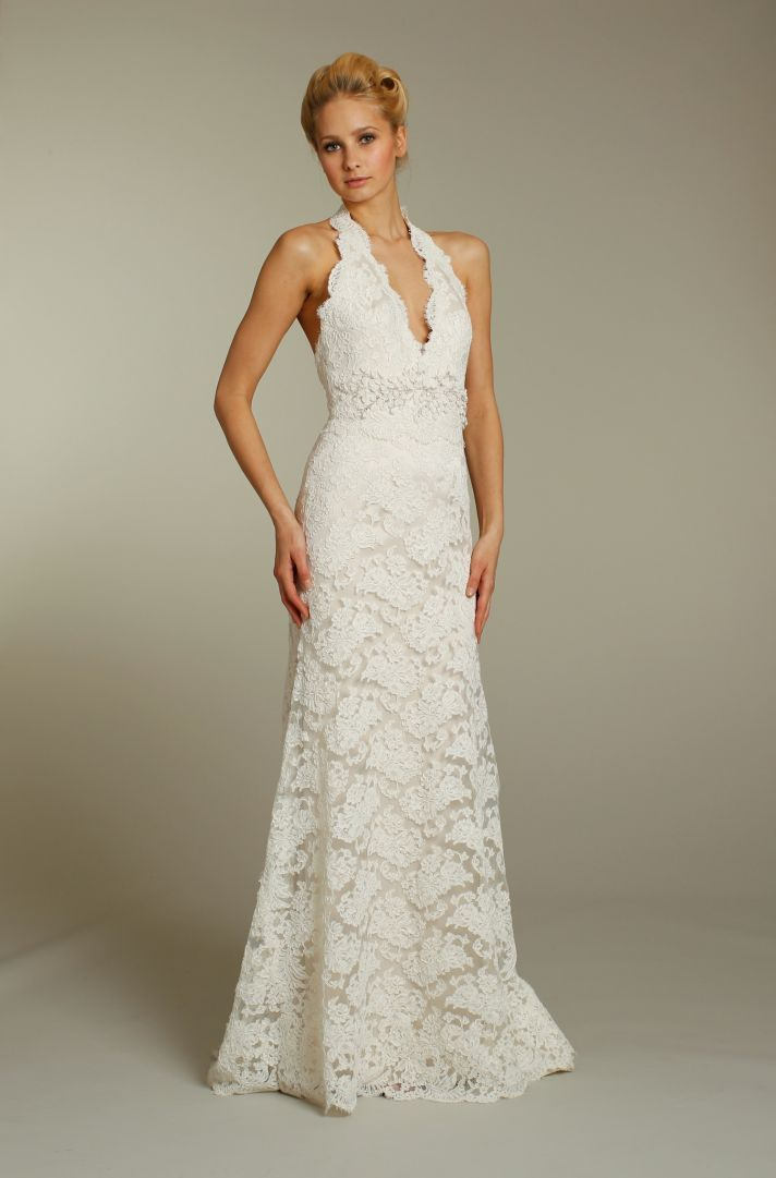 Lace halter style wedding dresses