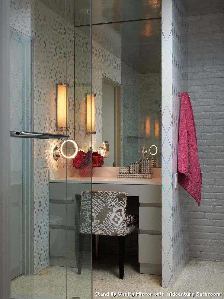 42++ Bathroom vanity mirror on stand ideas