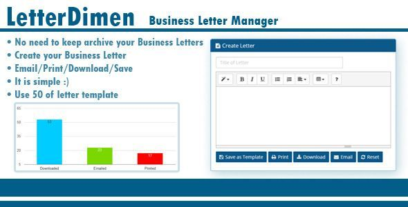 LetterDimen Business Letter Manager   bravebtr/business