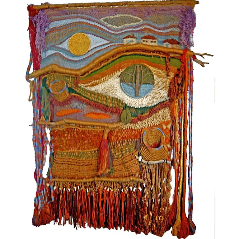 60 39 s hippie tapestry weaving by edith zimmer tapestry weaving tapestry and fiber art - Hippie zimmer ...
