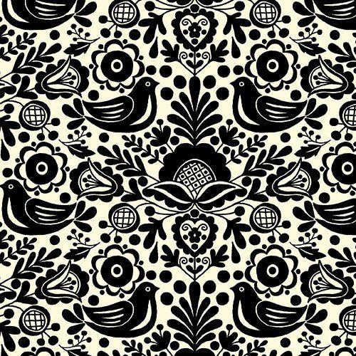 Silhouette Noire Par Andover Tissus - 1 Yard - Tissu - Moderne