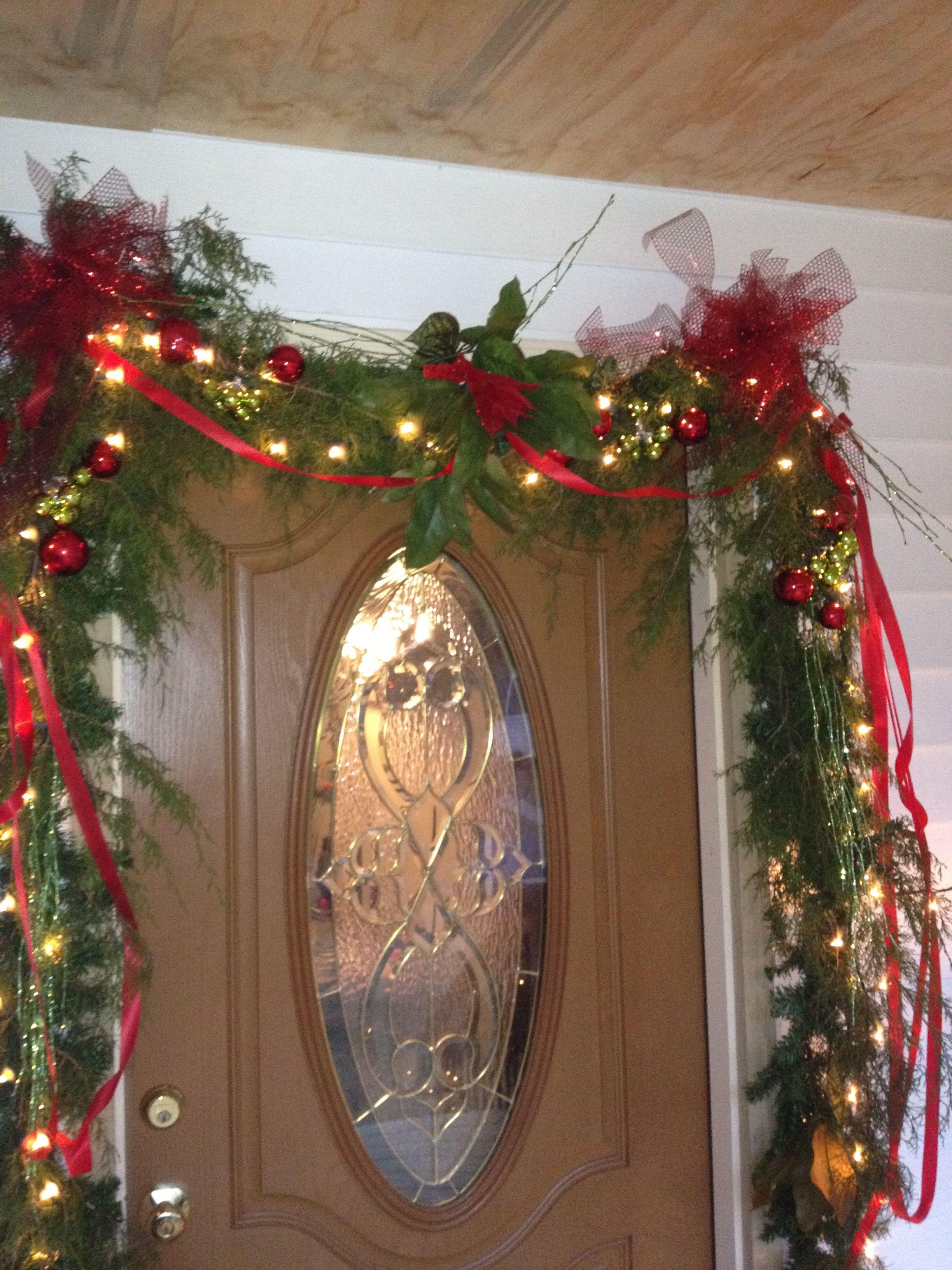 door decorations | Christmas Garland | Pinterest