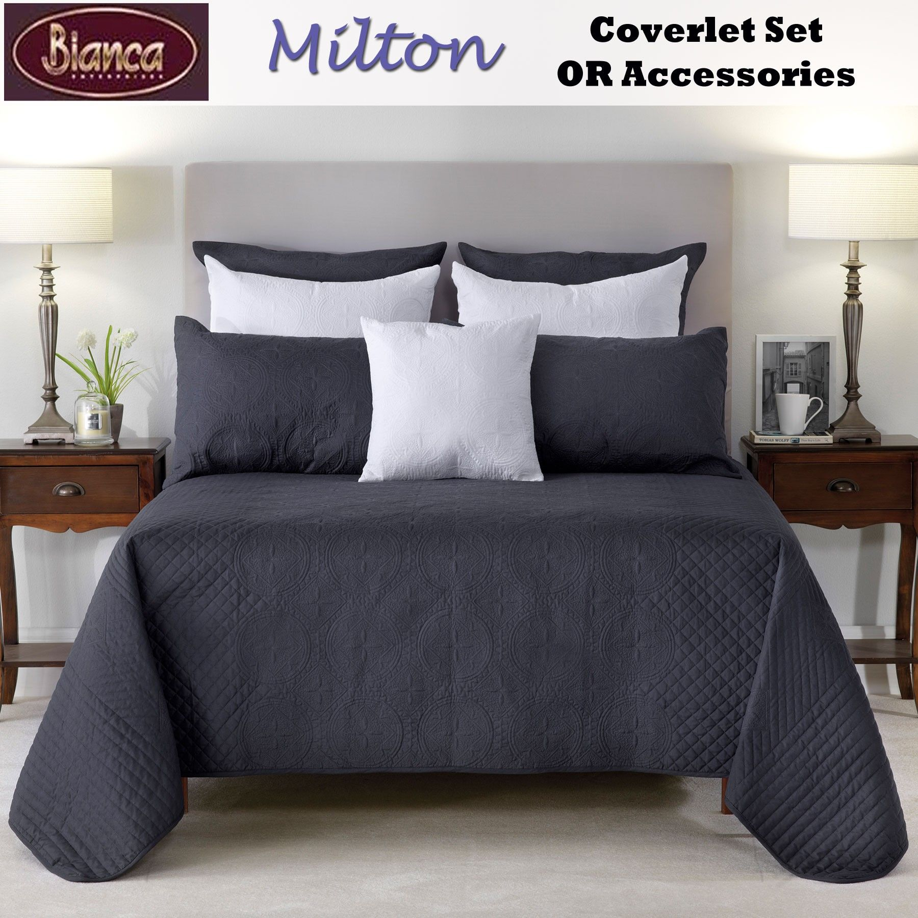 Milton Coverlet Set By Bianca Easily Makeover Your Bedroom Into Luxurious  And Comfortable Place With This Stunning Milton Embroidered Coverlet Set  Featuring ...