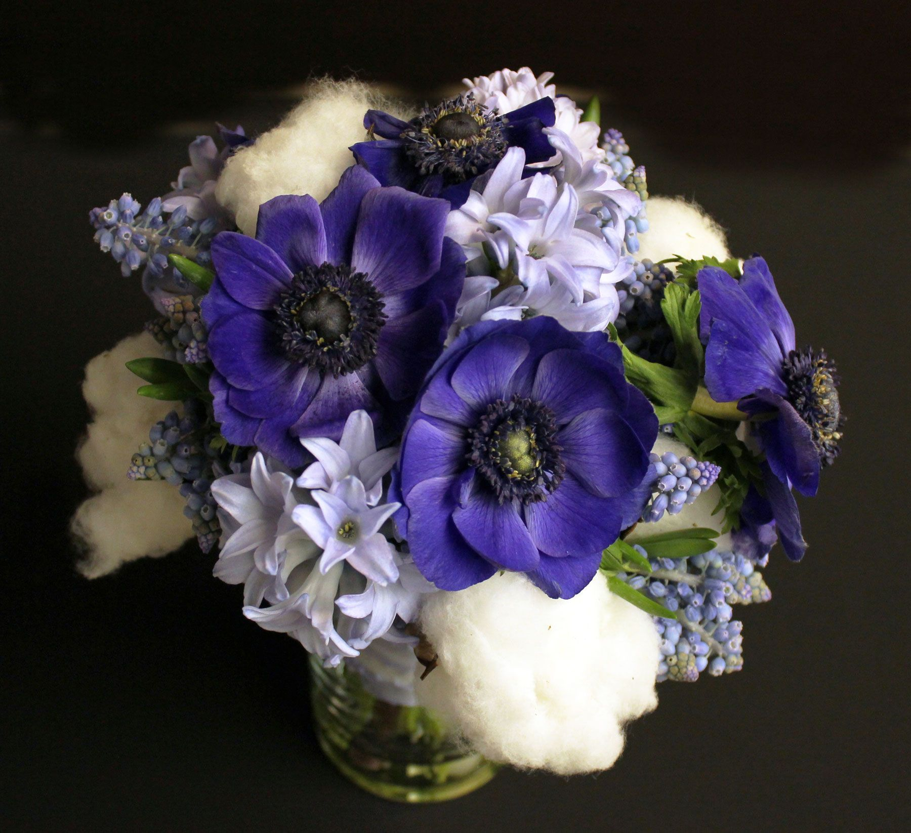 Blue Anemone Flower Bouquet | www.imgkid.com - The Image ...