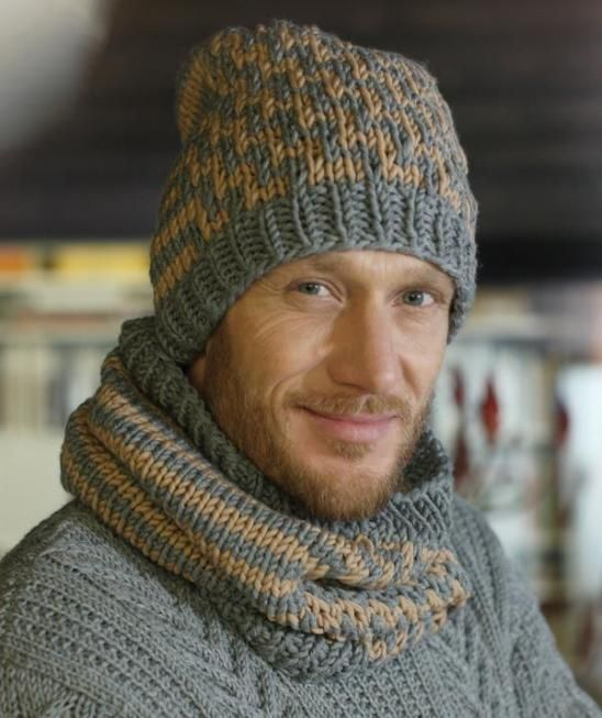 Cap And Infinity Scarf S8928 Free Pattern Knitting Pinterest
