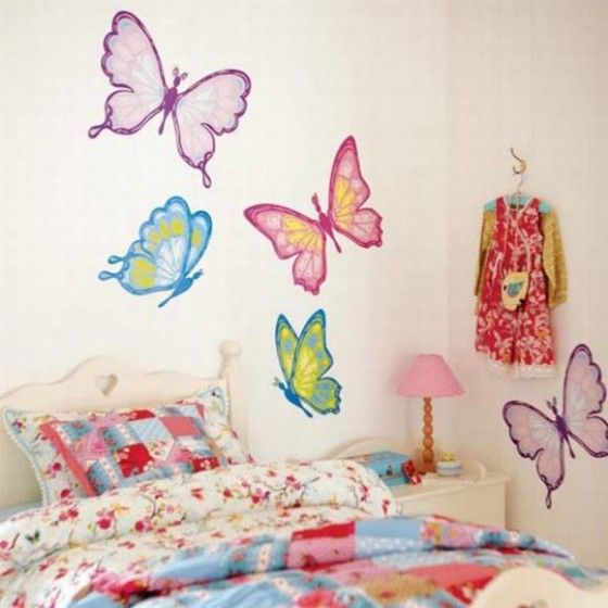 Here Is Cute Butterfly Bedroom Wall Decal Mural Ideas For Teen Photo  Collections At Bedroom Wall Catalogue. More Picture Design Butterfly  Bedroom Wall Can ... Part 54