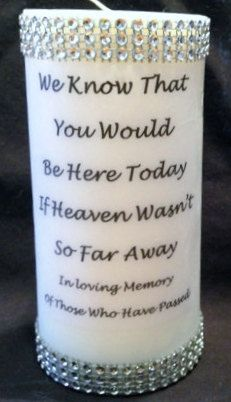 Memory Candle Rememberance By Ribbonpersonalized On Etsy 17 99