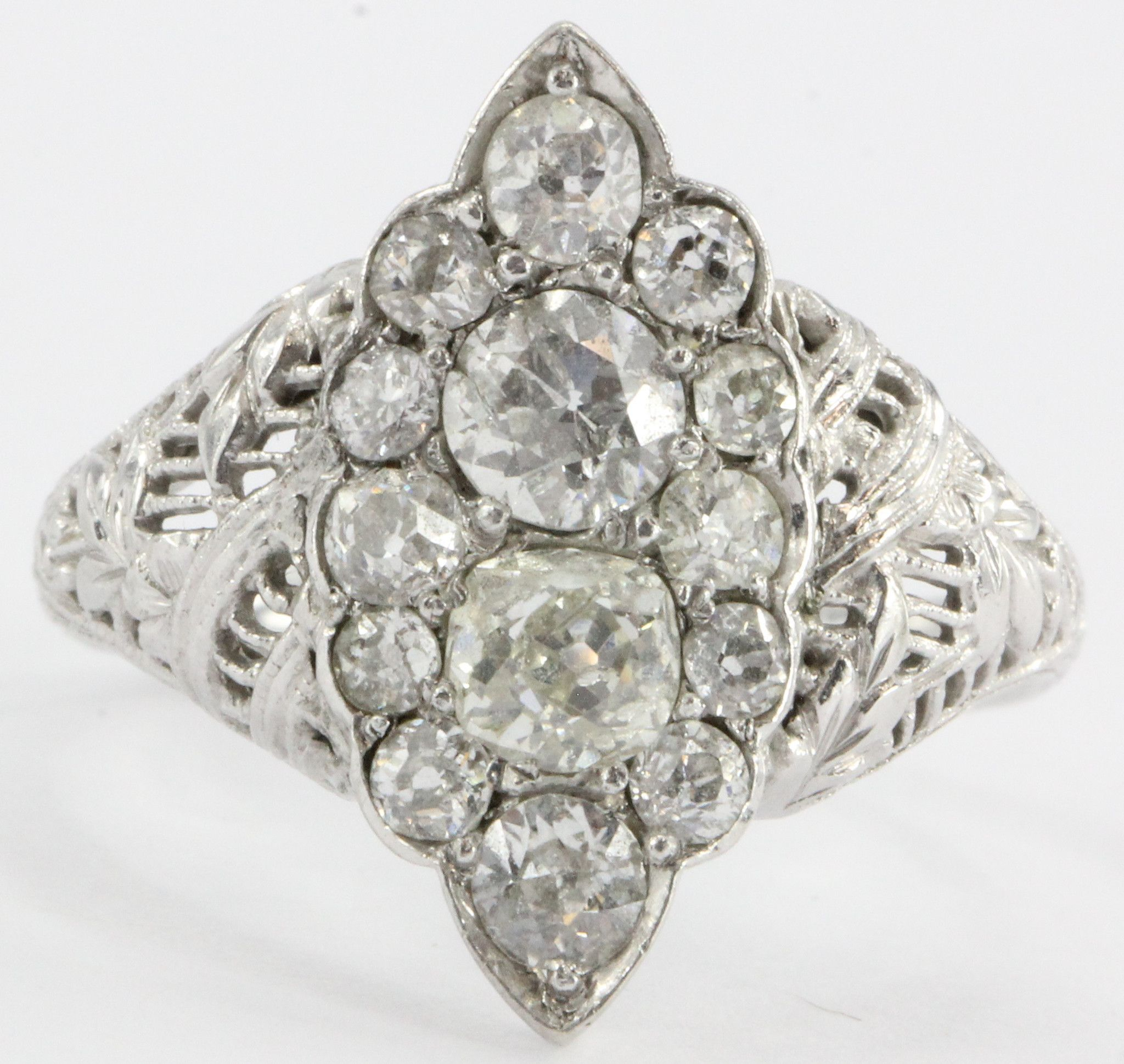 cluster img bostonian antique deco jewelers collection rings bands art engagement jewelry vintage diamond