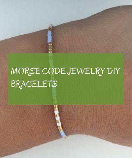 Morse Code jewelry diy bracelets