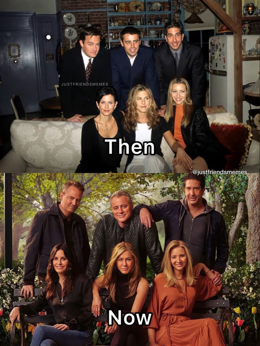 Friends Then And Now In 2021 Friends Best Moments Friends Funny Moments Friends Tv