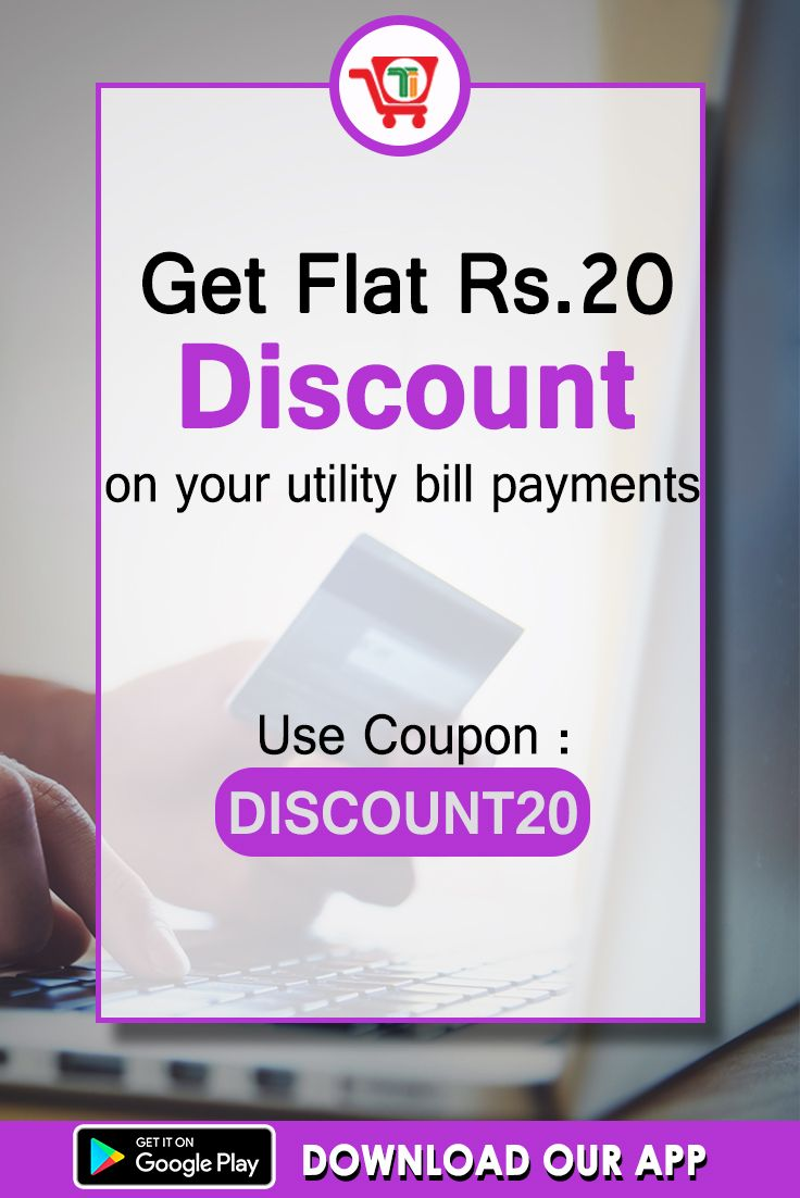"""Do bill payment use coupon code """"DISCOUNT20"""" and get Flat"""