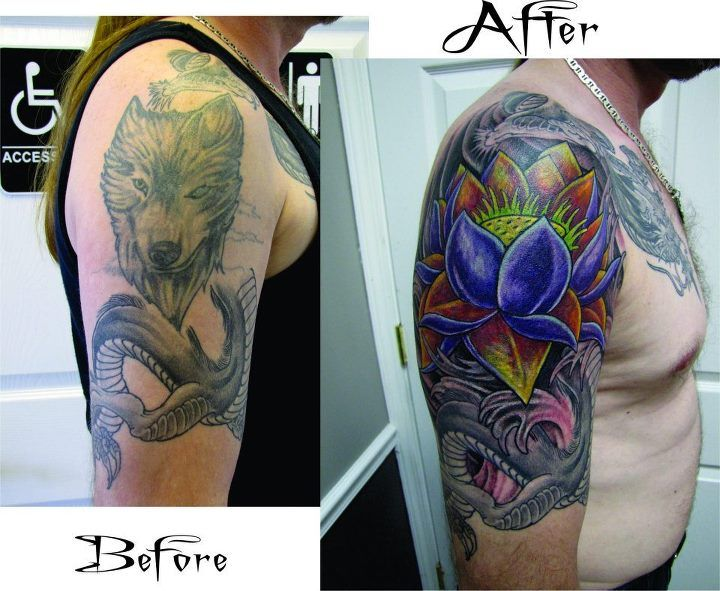 Cover u p tattoo by dale cover