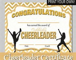 image result for free printable cheerleading award certificate templates