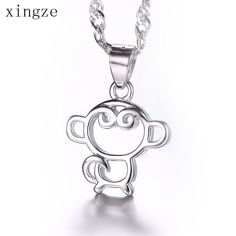 Find More Pendants Information about 2016 Style New Cute Little Monkey Simple Hollow Design Silver Plated Pendants Charm Women Fine Jewelry Wholesale,High Quality jewelry review,China jewelry silver charms Suppliers, Cheap jewelry for boys necklaces from Xingze Jewelry store on Aliexpress.com