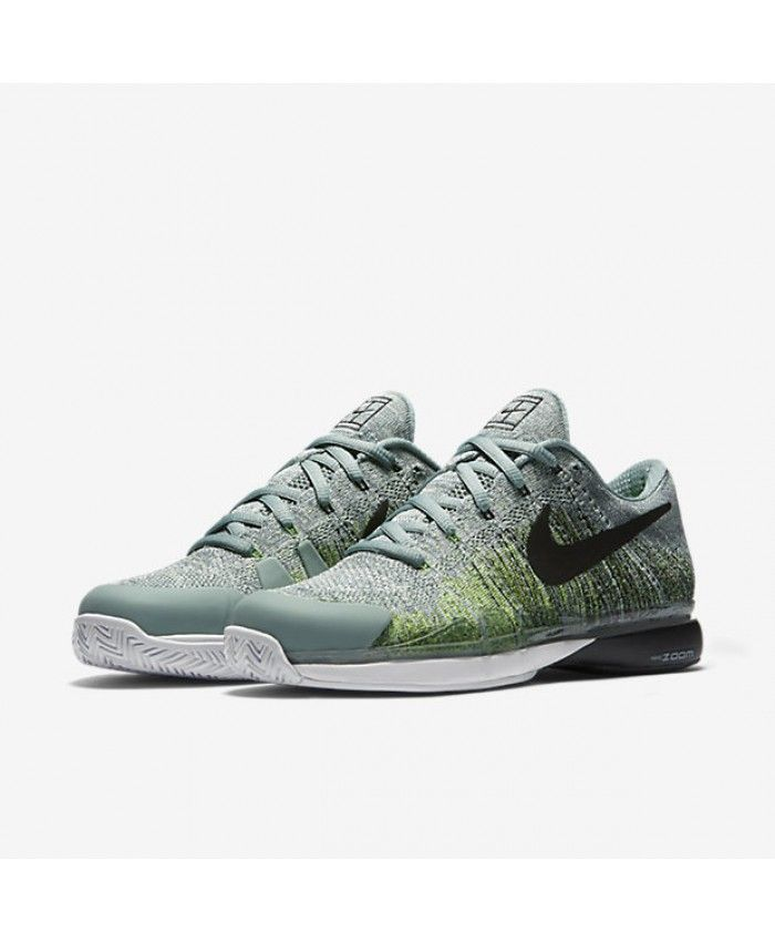 san francisco bc118 27c47 NikeCourt Zoom Vapor 9.5 Flyknit Cannon Electric Green Enamel Green Black  Mens Shoes. Visit