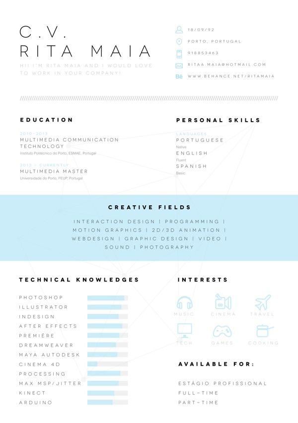 Eigencommunicatie Cv Resume On Behance Resume Design Creative Creative Resume Graphic Resume