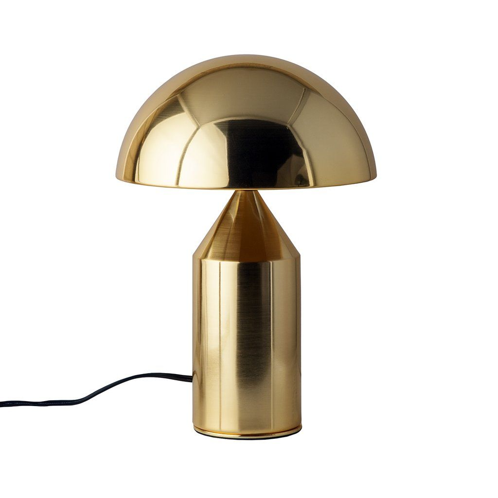 Mid Century Mushroom Table Lamp Brass Brass Table Lamps Contemporary Table Lamps Table Lamp