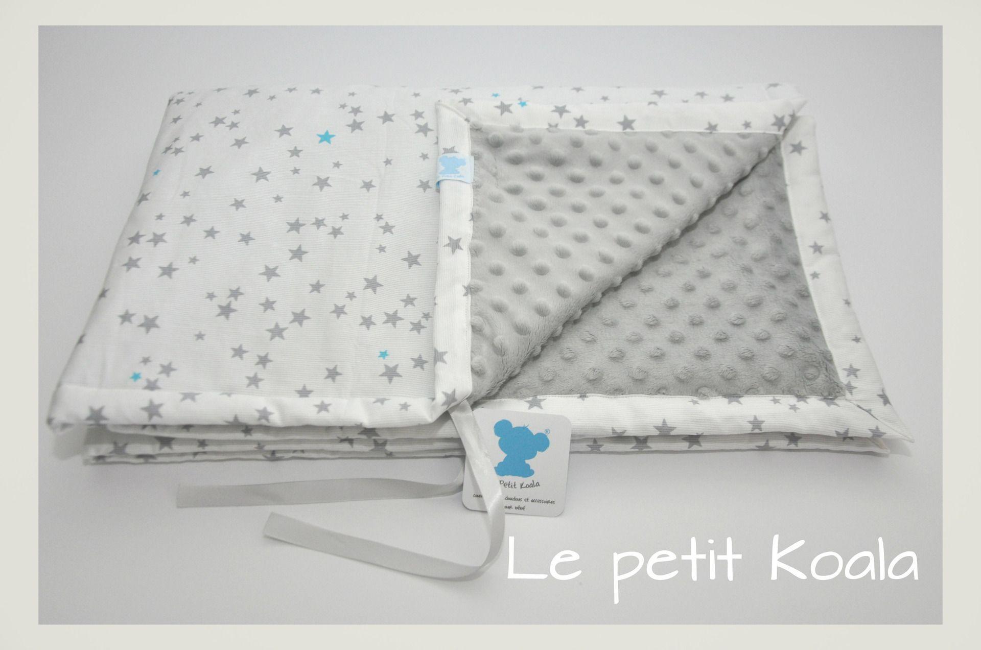 Couverture bébé personnalisable en minkee