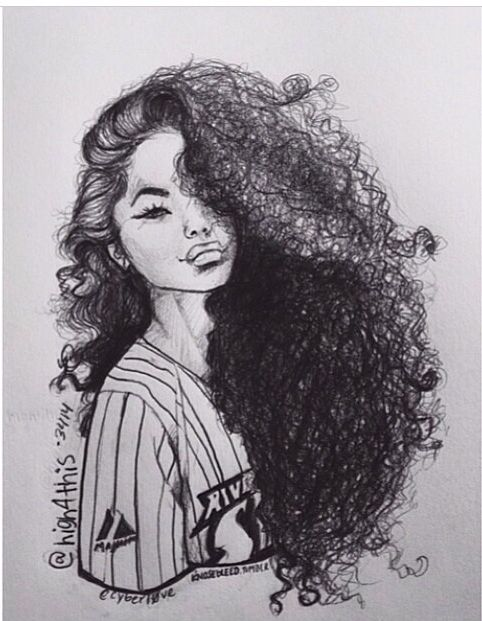 Natural Curly Hair Dessins Faciles Dessin Visage