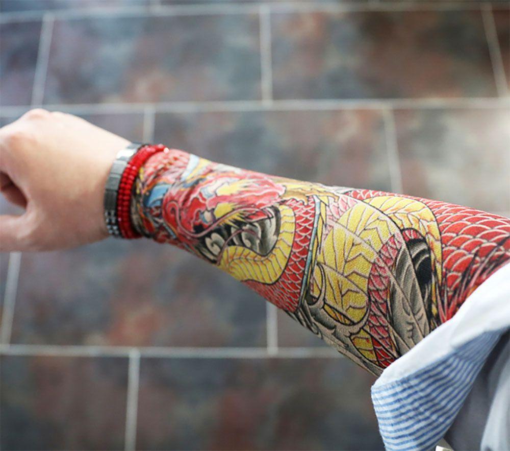 Premium tattoo sleeve fake realistic tattoo sleeve red
