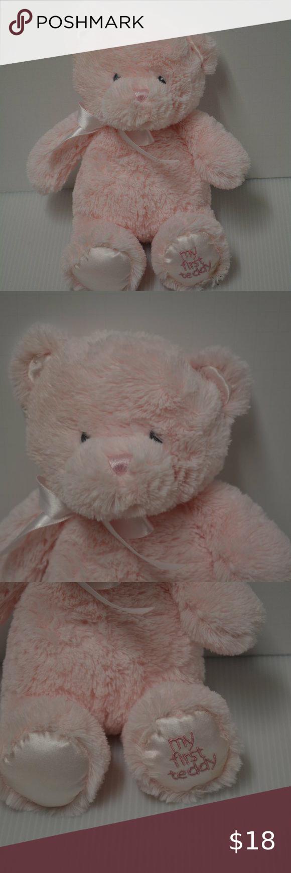 Predownload: Baby Gund My First Teddy Bear Plush Pink Girl Love Bear Plush Teddy Bear Plush Teddy Bear Stuffed Animal [ 1740 x 580 Pixel ]