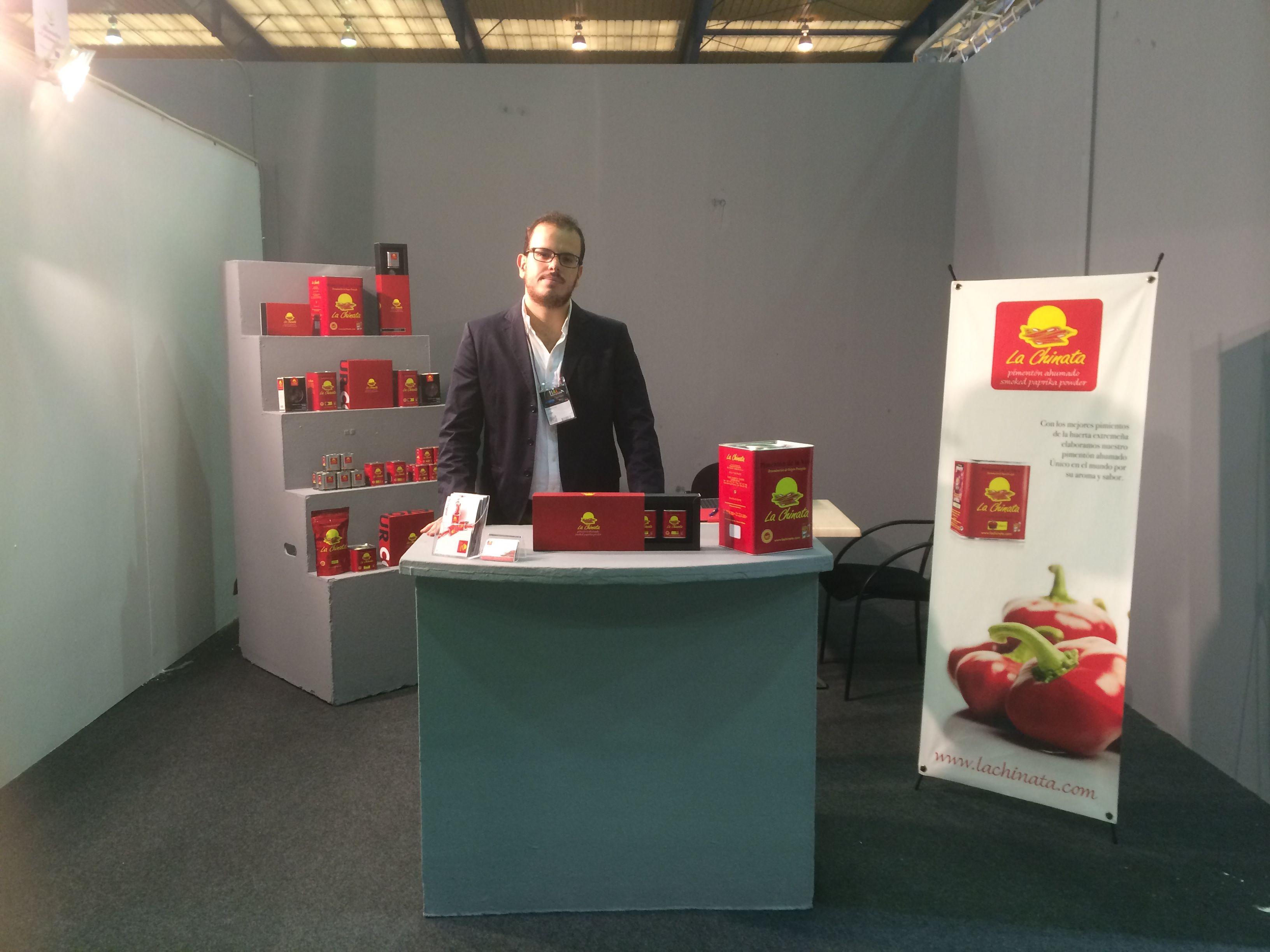 Feria Internacional de la Alimentación 2014 de Don Benito /This is our stand at Food International Fair FIAL  #pimentón #lachinata
