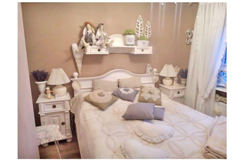 Eine perfekte Wohlfühloase im #Schlafzimmer – #weißes #Landhausbett ...