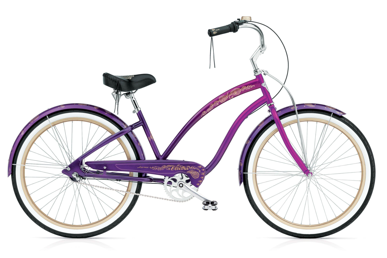 Karma 3i Electra Bike Cruiser Bike Purple Bike