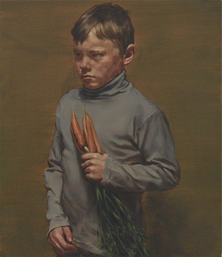 Michaël Borremans - Boy with Carrots - 2016