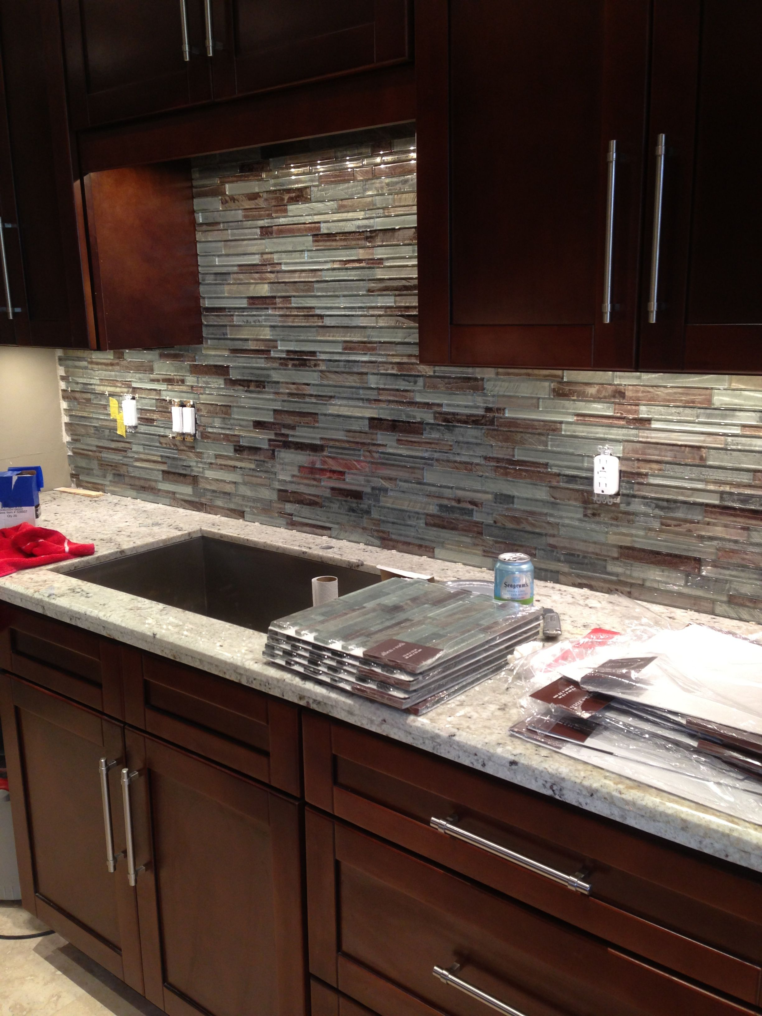 Gl Tile Backsplash For Condo Kitchen