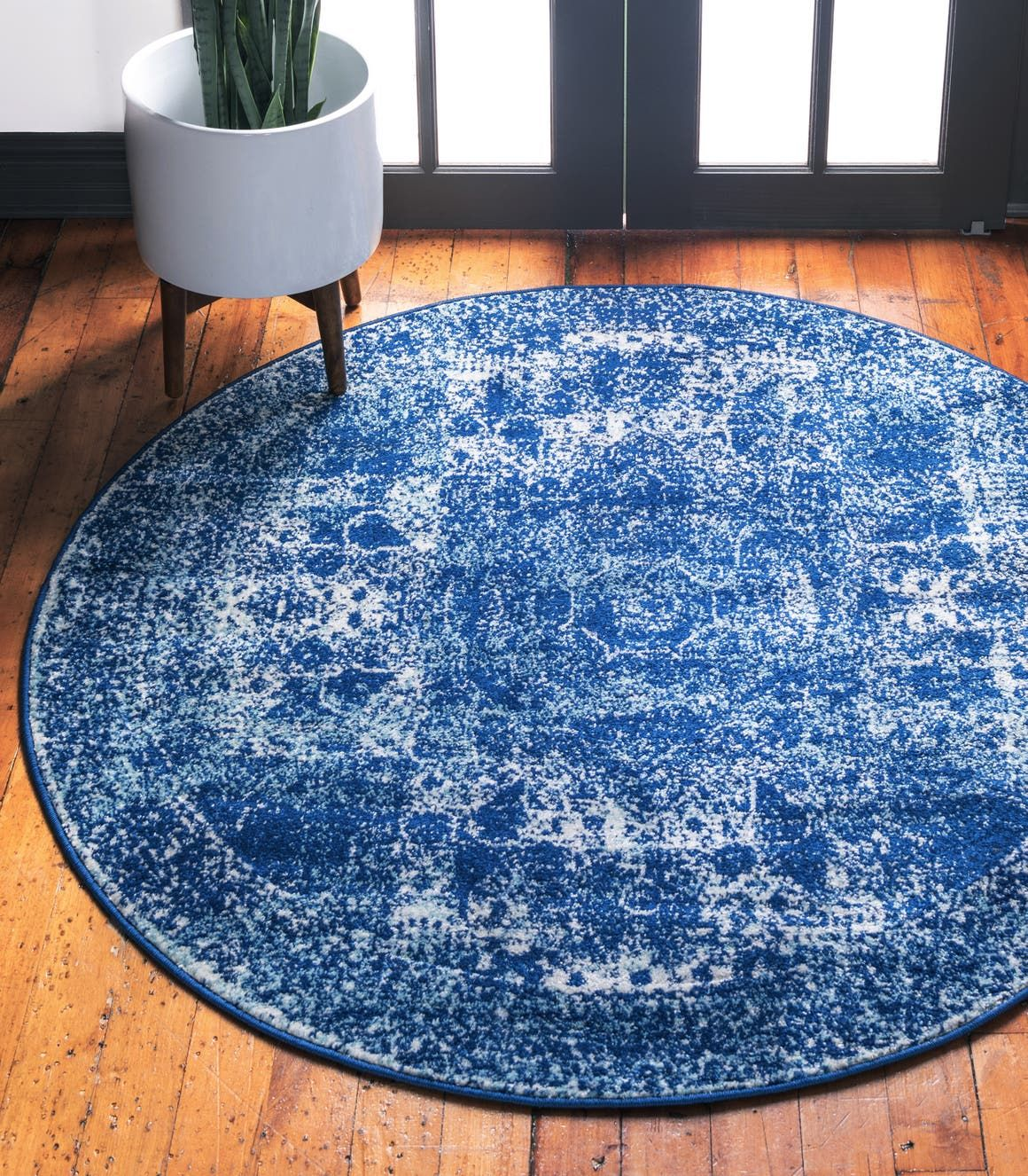 Navy Blue Bexley Area Rug (With images) Round rugs
