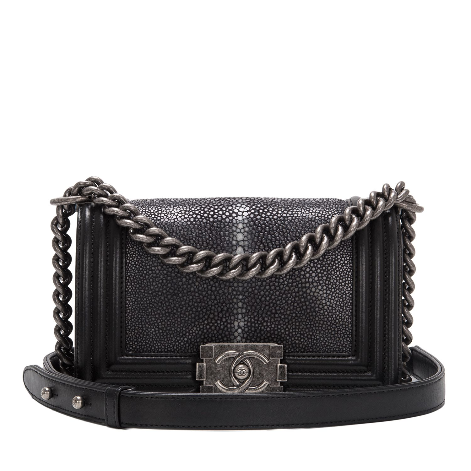 Chanel Boy Bag Black Stingray Small  chanel  4f1c9ef1a5a1b