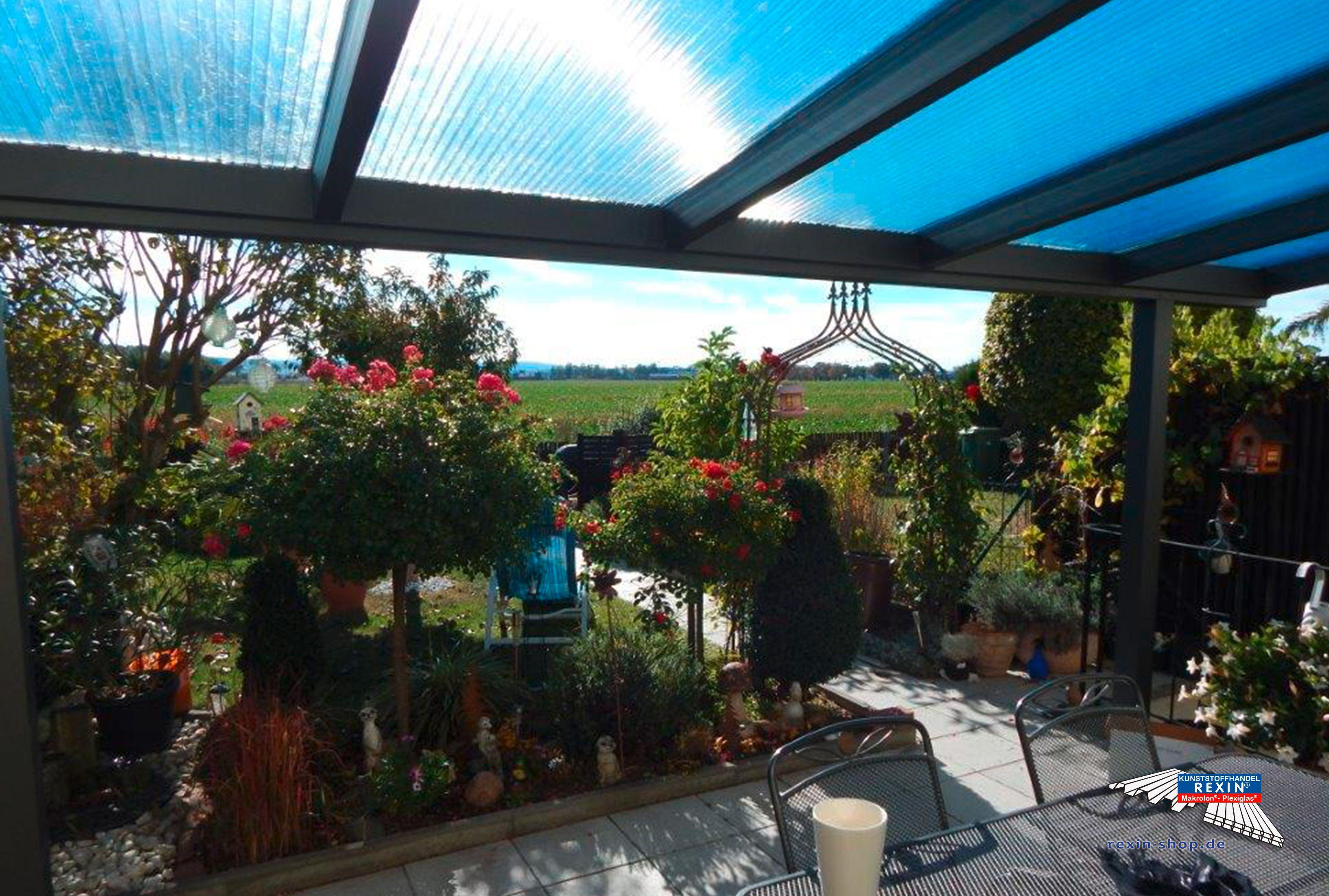 Ein Alu Terrassendach Der Marke Rexopremium 5m X 3m In Anthrazit Mit Makrolon Uv 2 16 30 Stegplatten Mit Diesem Uberdachung Terrasse Stegplatten Terrassendach