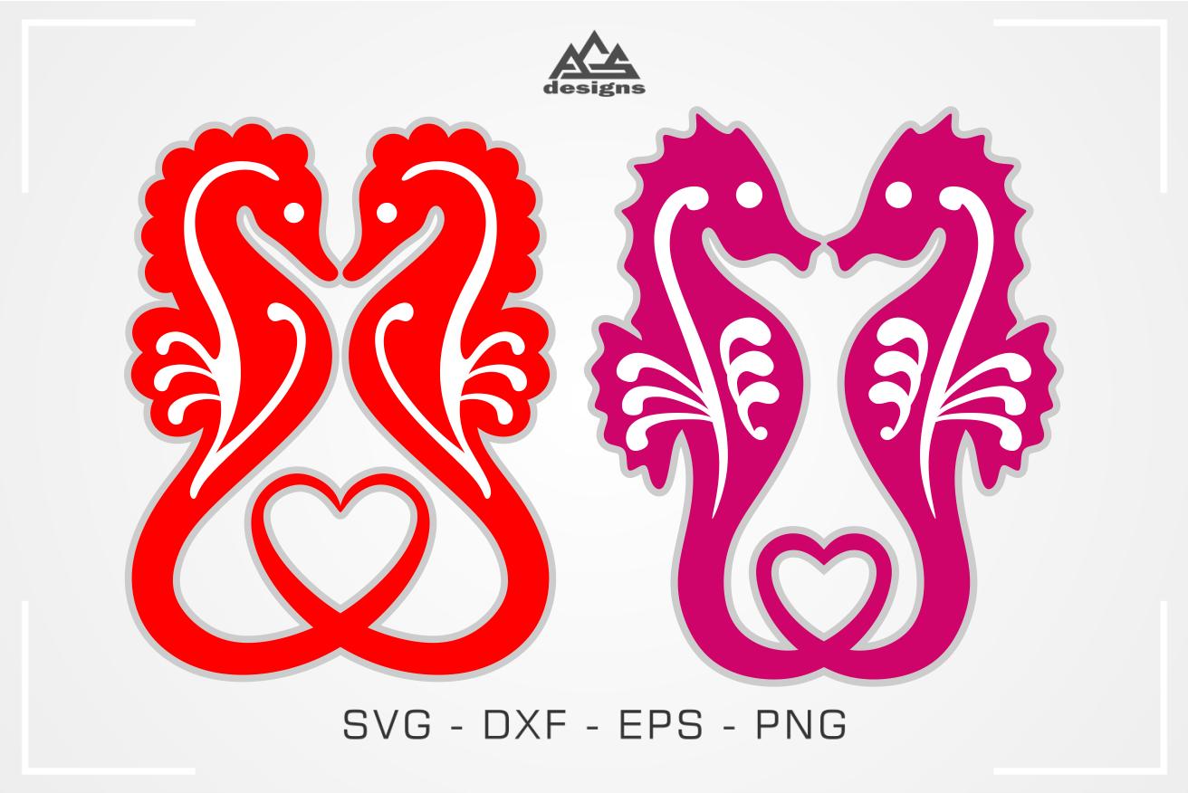 SeaHorse Heart Love Svg Design (с изображениями)