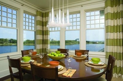 Striped Curtains Eclectic Dining Room By Tracery Interiors
