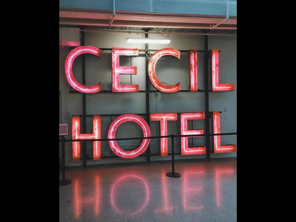 Cecil Hotel sign